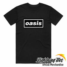 Official Oasis Logo Definitely Maybe Noel Liam Gallagher Band T-Shirt