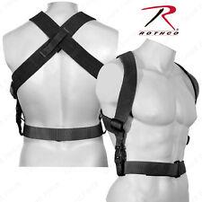 "Rothco Black Combat Suspenders - 2"" Wide Adjustable X-Back Suspenders"