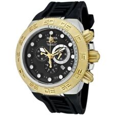 Invicta Mens 1531 50mm Subaqua Noma IV Chronograph Gold Black Rubber Swiss Watch