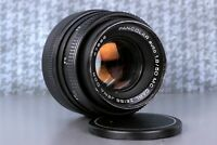 RARE lens BLACK MC Carl Zeiss Jena Pancolar AUTO Germany lens 50mm f/1.8 M42