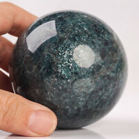 605g 71mm Large Natural Blue Apatite Quartz Crystal Sphere Healing Ball Chakra