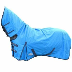 Mediumweight 200g Turnout Rugs 600D Fixed Horse Pony Combo Full Neck Waterproof