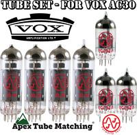 Tube Set for Vox AC30  electric guitar amplifier JJ Electronics vacuum valves