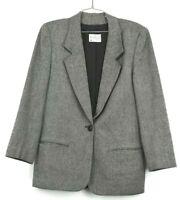 Miss Pendleton Vintage Women's Made in USA 100% Virgin Wool Blazer Size 10