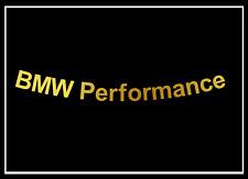 5x BMW Performance Felgenaufkleber Schriftzug gold 120x10mm