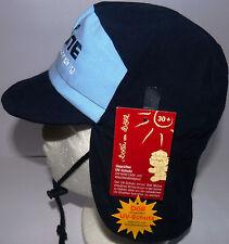 Döll UV Schutz KU53 54 55 56 binden Nackenschutz Sonnen Cap Kappe Junge schwarz