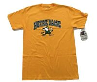 NCAA Notre Dame Gold Champion SS T-Shirt Officially Licensed YOUTH Size XL New