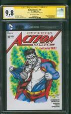 Superman Action Comics 18 CGC SS 9.8 Nick JUSTUS original art Bizarro sketch