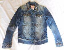 Parasuco Designer Boutique Rhinestone Studded Embellished Legend Denim Jacket L