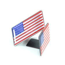 United State American USA Flag Metal Front Grlle Emblem Badge For Chrysler GMC