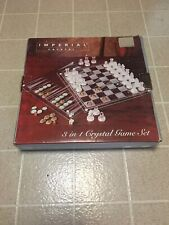 Imperial crystal  Chess Backgammon Checkers.excellent Condition.