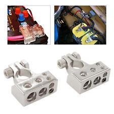 Battery Terminal Connectors 0/4/8/10 Gauge Awg Positive Negative Auto Car Audio