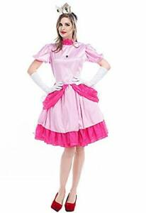 Top Totty  Luxurious Mario Peach Princess Adult Costume one size 8 to 10