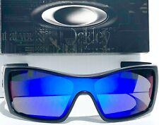NEW! Oakley BATWOLF in Matte Black POLARIZED Galaxy Blue 2 lens Sunglass 9101-04