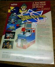 Taito SONIC BLAST MAN Arcade Video Game flyer- original