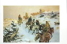 "Charlie Dye, ""Frosty Roundup""-Cowboys, Horses, Cattle,Snow-Western- Art Print---"