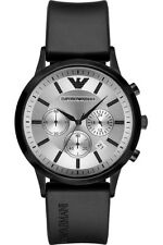 NEW EMPORIO ARMANI AR11048 MENS BLACK CHRONOGRAPH WATCH, COA - 2 YEARS WARRANTY