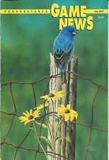 Pennsylvania Game News July 2007 cover by Scott Calpino male indigo bunting