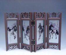 Heim Dekor Chinesisch Desktop Display 4 Laufen Pferde Geschenkbox Brandneu #