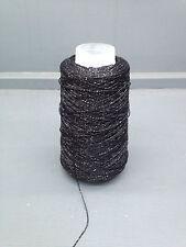 100 grammes cônes lurex fil noir environ 720M 724