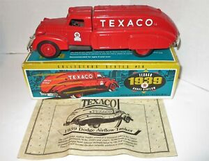 ERTL Texaco 1939 Dodge Airflow Collectors (Series #10) 1:24 Die-Cast Bank 1993