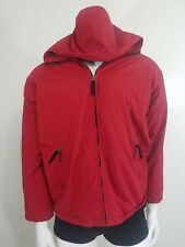 Abercrombie & Fitch Jacket Coat Parka Mens Small Red Hooded Snow Winter Zip Up