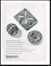 1959 Vintage Tiffany Co. Jewelers Jean Schlumberger Jewelry Box Photo Print Ad