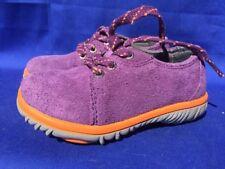 SALE @ BOGS Bright Purple Orange Hiking Trail Comfort Leather Shoes Toddler Sz 7