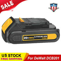 New For Dewalt DCB201 20V 20 Volt Max 2.0Ah Lithium Ion Battery DCB203 DCB207