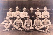 .RARE 1921 DANVILLE HIGH SCHOOL, KENTUCKY SENIOR BASKETBALL OFFICIAL TEAM PHOTO.