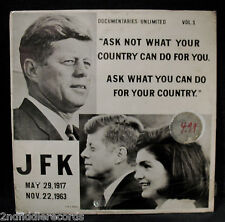 JOHN FITZGERALD KENNEDY-JFK DOCUMENTARIES UNLIMITED VOL.1-Sealed Album