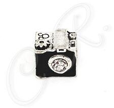 """Damen Charm """"Kamera, Fotoapparat"""" Detailreicher Anhänger, 925er Silber veredelt"""
