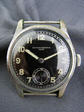 alte Dienstuhr Record Watch Co Genf  Wehrmacht WW 2 Deutsches Heer