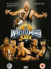 WRESTLEMANIA 24 BOXSET 3DVD NEW (COVER DAMAGE) FREE POST WWE