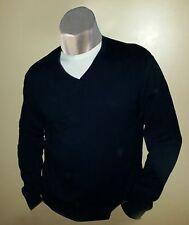 Excellent Condition STRUCTURE Men's Light Sweater sz XL Navy VNeck w/Grey Trim