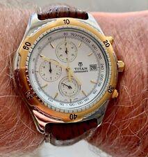 TITAN chronograph 9607 brand new mens sport watch