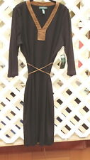 Black Dress with Faux Suade Trim by Ralph Lauren.....1X