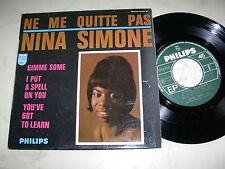 NINA SIMONE Ne Me Quitte Pas + 3 *RARE 4Track 60s EP PHILIPS FRANCE*