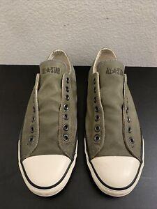 Converse John Varvatos Leather Olive Slip On 117425 Men Size 9