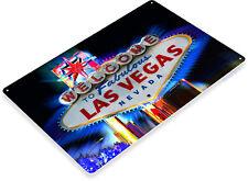"TIN SIGN ""Welcome to Las Vegas"" Hotel Casino Metal Decor Wall Art Nevada A701"