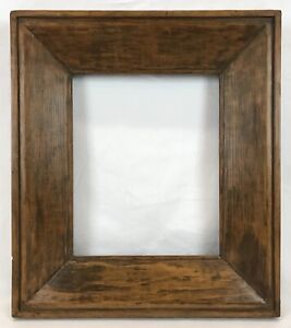 Antique Mid 19th C Painted Wide Frame 10 x 12 Opening