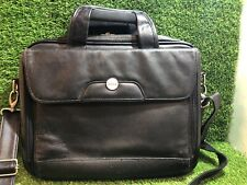 Dell Leather/ Look ?? Laptob Bag Lovely Quality With Shoulder Strap