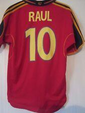 España euro 2000-2002 Raul 10 Hogar Camiseta De Fútbol Tamaño Mediano/42002