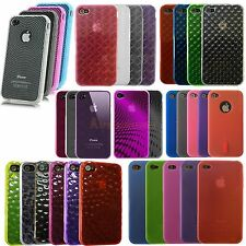 For iPhone 4s Soft TPU Gel Bumper Skin Back Case Cover For iPhone 4 CLEARANCE