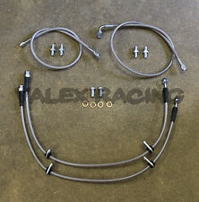 Complete Stainless Front Brake Line Replacement Kit For 96-00 Honda Civic EK
