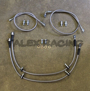 Complete Stainless Front Brake Line Replacement Kit For 92-95 Honda Civic EG