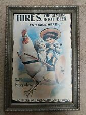 Rare HIRES Genuine ROOT BEER VINTAGE PRINT/LITHOGRAPH BY HICKORY PLAQUE INC.