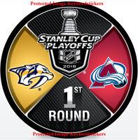 2018 Stanley Cup Playoffs Hockey Puck Nashville Predators vs Colorado Avalanche
