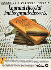 PUBLICITE ADVERTISING 045  1982  POULAIN  chocolat patissier