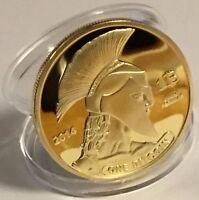 Bitcoin Gold Plated Titan Commemorative Coin BTC Collectible Physical WITH CASE